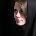 retrato com véu