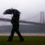 Promenade on a rainy day