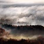 Misty town