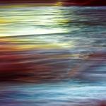 Rainbow veils of sea water