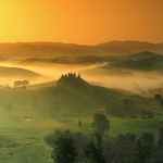 Atmosphere of a magical spring morning Tuscan