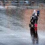 It rains___
