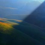 Diagonal of light in a summer morning ..
