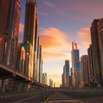Sunset in Dubai..