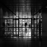 at an entrance