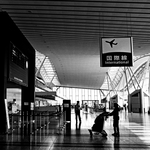 at an airport