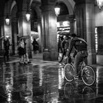 It is rain in Barcelona.