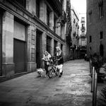 En la calle.