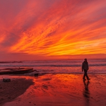 Sunset in Matosinhos.