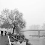 neblinas junto ao rio