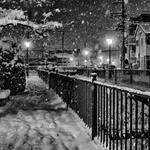 Snowy night, my town
