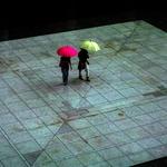 Two-colored umbrella