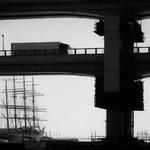 Sailing ship and truck