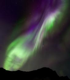 Aurora  Dyrholaey (Iceland)
