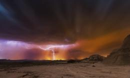 Bardenas storm