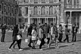 Turistas em Versalhes