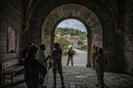 Peregrinos no Mosteiro de Oseira