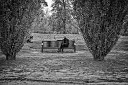 No jardim - Versalhes