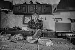 Cortando o pão