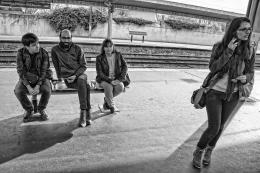 À espera do comboio