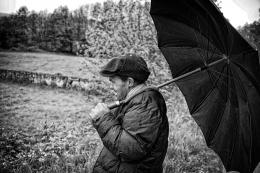 O pastor num dia de chuva