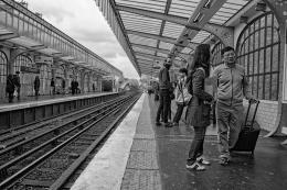 Na estação de comboios - Paris