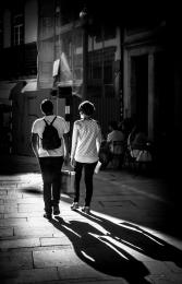 Sombras e luz.