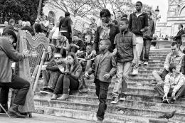 Nas escadas do Sacré-Coeur - Paris