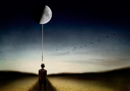 Man and his moon...